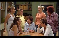 Janae Timmins, Katya Kinski, Bree Timmins, Lyn Scully, Janelle Timmins, Susan Kennedy, Angie Rebecchi in Neighbours Episode 4978