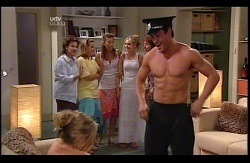 Janelle Timmins, Lyn Scully, Bree Timmins, Katya Kinski, Janae Timmins, Angie Rebecchi, Stripper in Neighbours Episode 4978