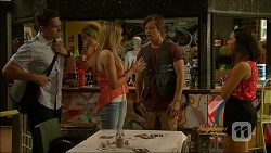 Josh Willis, Amber Turner, Daniel Robinson, Imogen Willis in Neighbours Episode 7072