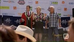 Paul Robinson, Sheila Canning, Lou Carpenter in Neighbours Episode 7073