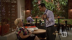 Sheila Canning, Nick Petrides in Neighbours Episode 7074