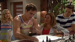 Georgia Brooks, Kyle Canning, Terese Willis, Josh Willis in Neighbours Episode 7074