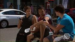 Tyler Brennan, Nate Kinski, Chris Pappas in Neighbours Episode 7076