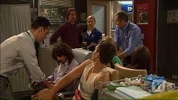 Nick Petrides, Brad Willis, Georgia Brooks, Josh Willis, Karl Kennedy in Neighbours Episode 7077