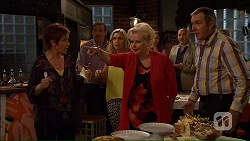 Susan Kennedy, Toadie Rebecchi, Georgia Brooks, Sheila Canning, Karl Kennedy in Neighbours Episode 7078