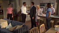 Bailey Turner, Matt Turner, Guy Carpenter, Lauren Turner, Brad Willis, Lou Carpenter in Neighbours Episode 7083