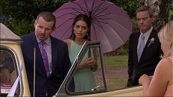 Toadie Rebecchi, Paige Novak, Paul Robinson, Lauren Turner in Neighbours Episode 7084