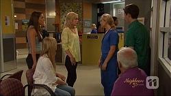 Paige Novak, Amber Turner, Georgia Brooks, Lou Carpenter, Bailey Turner in Neighbours Episode 7088