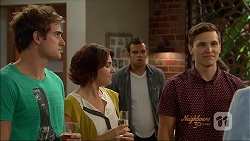 Kyle Canning, Naomi Canning, Nate Kinski, Josh Willis in Neighbours Episode 7090