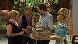 Sheila Canning, Daniel Robinson, Kyle Canning, Georgia Brooks in Neighbours Episode 7092