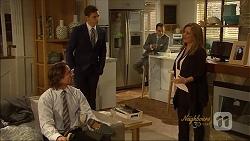 Brad Willis, Josh Willis, Nick Petrides, Terese Willis in Neighbours Episode 7092
