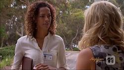 Trish Baker, Georgia Brooks in Neighbours Episode 7092