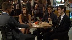 Mark Brennan, Paige Novak, Tyler Brennan, Bailey Turner in Neighbours Episode 7092
