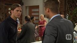 Tyler Brennan, Lauren Turner, Mark Brennan in Neighbours Episode 7093