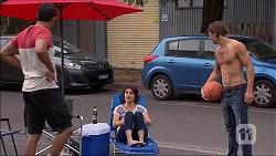 Nate Kinski, Naomi Canning, Tyler Brennan in Neighbours Episode 7093