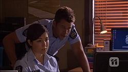 Mark Brennan, Constable Miranda Coby in Neighbours Episode 7094
