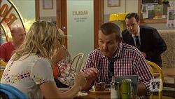 Georgia Brooks, Toadie Rebecchi, Nick Petrides in Neighbours Episode 7095