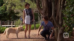 Naomi Canning, Tyler Brennan, Bouncer II in Neighbours Episode 7095