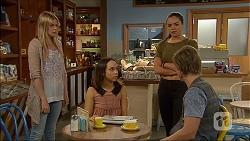 Amber Turner, Imogen Willis, Paige Smith, Daniel Robinson in Neighbours Episode 7096