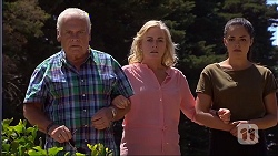 Lou Carpenter, Lauren Turner, Paige Novak in Neighbours Episode 7097