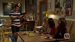 Josh Willis, Amber Turner, Imogen Willis, Paige Smith in Neighbours Episode 7100