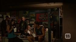 Michelle Kim, Dennis Dimato, Tyler Brennan in Neighbours Episode 7100