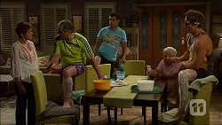 Susan Kennedy, Karl Kennedy, Nate Kinski, Lou Carpenter, Kyle Canning in Neighbours Episode 7100
