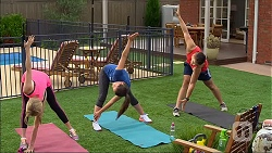 Amber Turner, Paige Novak, Josh Willis in Neighbours Episode 7100