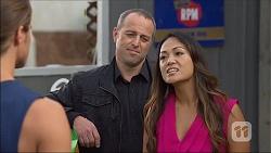 Tyler Brennan, Dennis Dimato, Michelle Kim in Neighbours Episode 7100