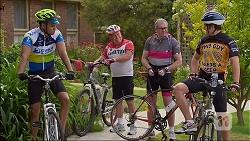 Nate Kinski, Lou Carpenter, Karl Kennedy, Kyle Canning in Neighbours Episode 7100