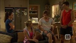 Paige Novak, Amber Turner, Daniel Robinson, Josh Willis in Neighbours Episode 7100