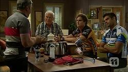 Karl Kennedy, Lou Carpenter, Kyle Canning, Nate Kinski in Neighbours Episode 7101