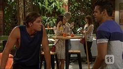 Tyler Brennan, Imogen Willis, Nate Kinski in Neighbours Episode 7102