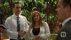 Nick Petrides, Terese Willis, Paul Robinson in Neighbours Episode 7104