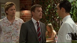 Daniel Robinson, Paul Robinson, Nick Petrides in Neighbours Episode 7105