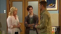 Lauren Turner, Bailey Turner, Mark Brennan in Neighbours Episode 7105