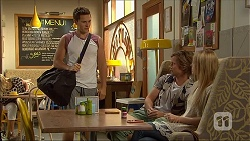 Josh Willis, Daniel Robinson, Amber Turner in Neighbours Episode 7107