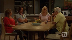 Terese Willis, Brad Willis, Lauren Turner, Lou Carpenter in Neighbours Episode 7108