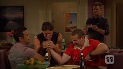 Nate Kinski, Tyler Brennan, Toadie Rebecchi, Mark Brennan in Neighbours Episode 7109