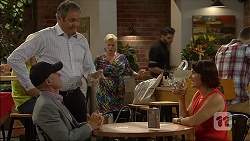 Paul Robinson, Karl Kennedy, Sheila Canning, Naomi Canning in Neighbours Episode 7109