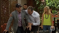 Paul Robinson, Karl Kennedy, Georgia Brooks in Neighbours Episode 7109