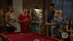 Hayley Hahn, Toadie Rebecchi, Sonya Mitchell, Mark Brennan, Sheila Canning in Neighbours Episode 7110