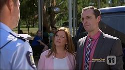 Mark Brennan, Terese Willis, Nick Petrides in Neighbours Episode 7111