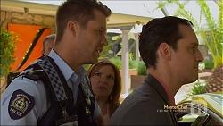 Mark Brennan, Terese Willis, Nick Petrides in Neighbours Episode 7112