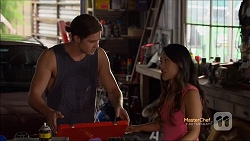 Tyler Brennan, Michelle Kim in Neighbours Episode 7114