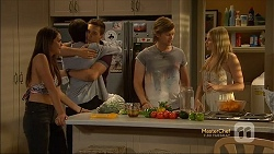 Paige Novak, Bailey Turner, Josh Willis, Daniel Robinson, Amber Turner in Neighbours Episode 7115