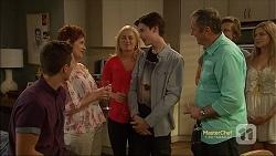 Josh Willis, Susan Kennedy, Lauren Turner, Bailey Turner, Karl Kennedy, Daniel Robinson, Amber Turner in Neighbours Episode 7115