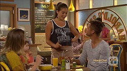 Sonya Rebecchi, Nell Rebecchi, Paige Smith, Mark Brennan in Neighbours Episode 7116