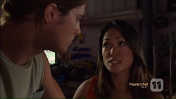 Tyler Brennan, Michelle Kim in Neighbours Episode 7117