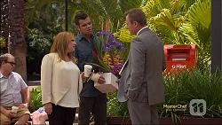 Terese Willis, Nate Kinski, Ezra Hanley in Neighbours Episode 7120